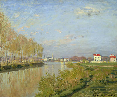 White House Painting - The Seine At Argenteuil by Claude Monet