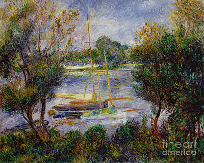 Water Vessels Painting - The Seine At Argenteuil by Pierre Auguste Renoir