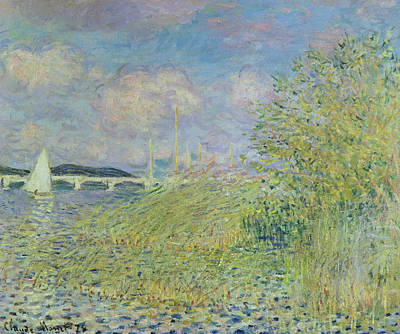 French Signs Painting - The Seine At Chatou Near Argenteuil, 1878 by Claude Monet