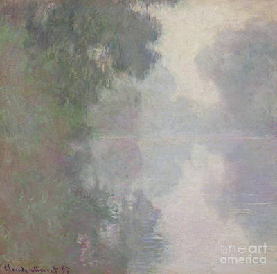River Scenes Painting - The Seine At Giverny, Morning Mists by Claude Monet