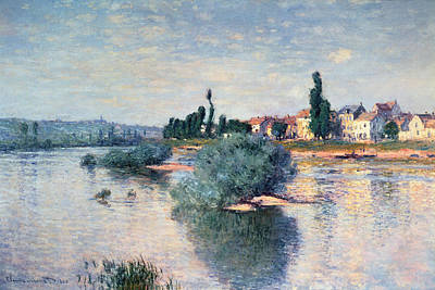 Reflecting Tree Painting - The Seine At Lavacourt by Claude Monet