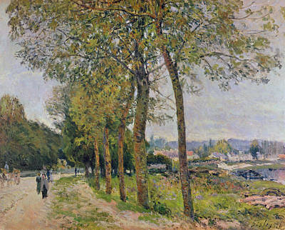 Seine River Wall Art - Painting - The Seine At Marly by Alfred Sisley