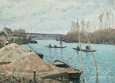 The Seine At Port-marly Print by Celestial Images