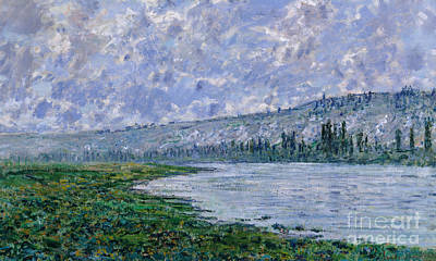 Edge Painting - The Seine At Vetheuil, 1880 by Claude Monet