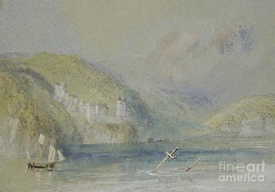 Joseph Mallord William Turner Painting - The Seine Near Tancarville by Joseph Mallord William Turner