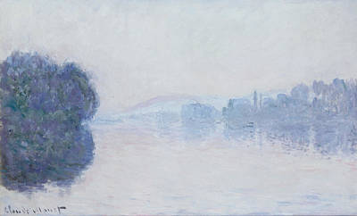 Fog Painting - The Seine Near Vernon by Claude Monet