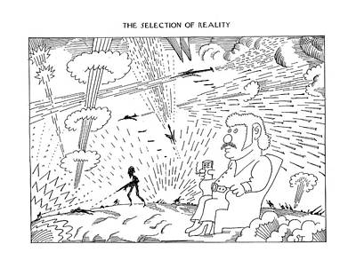Drawing - The Selection Of Reality by Saul Steinberg