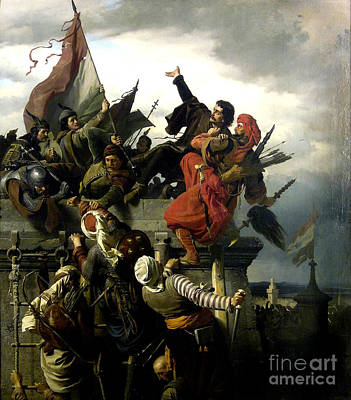 Wagner Painting - The Self Sacrifice Of Titusz Dugovics  by Celestial Images