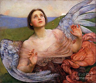 Painting - The Sense Of Sight By Annie Swynnerton  by Annie Swynnerton