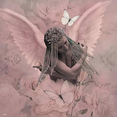 Erotica Mixed Media - The Sensually Shy Angel by G Berry