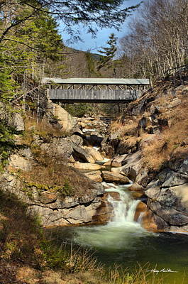 Photograph - The Sentinel Pine Covered Bridge by Harry Moulton