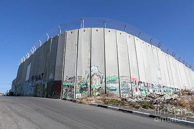 The Separation Wall In Bethlehem, Palestine Art Print by Roberto Morgenthaler