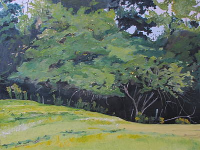 Eastern Townships Painting - The September Apple Tree Hatley Quebec Canada by Francois Fournier