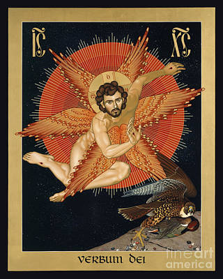 Painting - The Seraphic Christ - Rlsec by Br Robert Lentz OFM