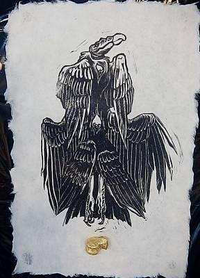 Buzzard Mixed Media - The Seraph's Full Crop by Maranda Cromwell