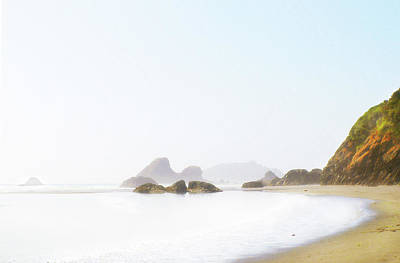 Digital Art - The Serenity Of Moon Stone Beach by Susan Vineyard