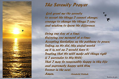 The Lord Himself Will Descend Digital Art - The Serenity Prayer by Barbara Snyder