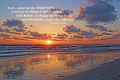 The Serenity Prayer Art Print by HH Photography of Florida