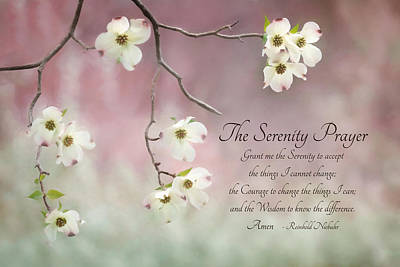 The Serenity Prayer Art Print by Lori Deiter