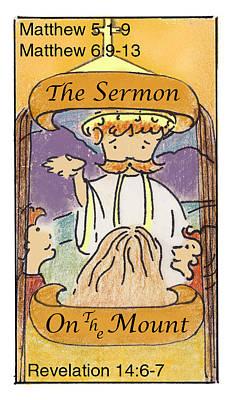 Revelation Drawing - The Sermon by Chayla Dion Amundsen-Noland