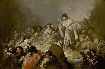 Sermon Painting - The Sermon by Eugenio Lucas