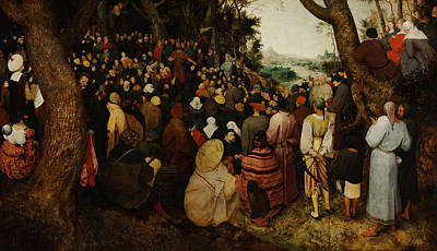 Baptist Painting - The Sermon Of Saint John The Baptist by Pieter Bruegel the Elder