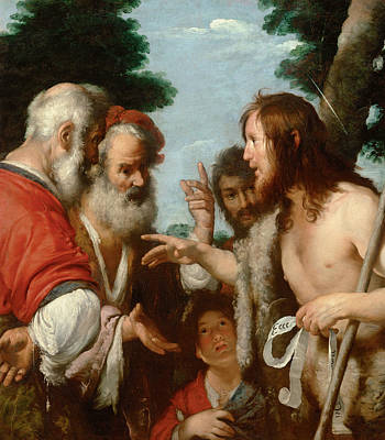 Baptist Painting - The Sermon Of St. John The Baptist by Bernardo Strozzi