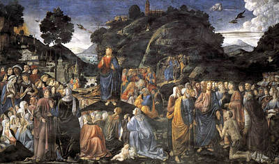 Sermon On The Mount Painting - The Sermon On The Mount by Cosimo Rosselli