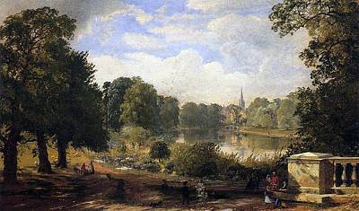 Hyde Park Painting - The Serpentine by Jasper Francis Cropsey