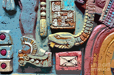 Mayan Painting - The Serpent's Message by David Lee Thompson
