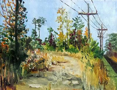 Painting - The Service Road by Jim Phillips