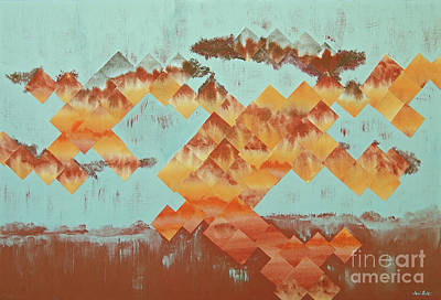 Wall Art - Mixed Media - The Setting Sun by Jeni Bate