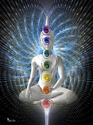 Digital Art - The Seven Chakras  by Ali Oppy