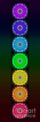 Seven Mixed Media - The Seven Chakras - Open Lotus No. 1 by Dirk Czarnota