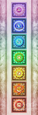 Tantra Digital Art - The Seven Chakras - Series 1 Artwork 2.1 by Dirk Czarnota