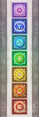 The Seven Chakras - Series 1 Artwork 2.2 Art Print