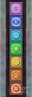 Tantra Digital Art - The Seven Chakras - Series 1 Artwork 2.3 by Dirk Czarnota