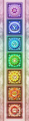 Mandal Digital Art - The Seven Chakras - Series 1 Artwork 3 by Dirk Czarnota