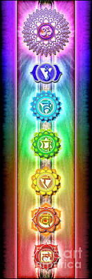 Seven Mixed Media - The Seven Chakras - Series 1 by Dirk Czarnota
