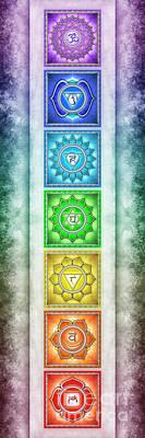 The Seven Chakras - Series 2 Artwork 2.1 Art Print