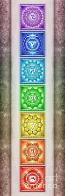 The Seven Chakras - Series 2 Artwork 2.2 Art Print