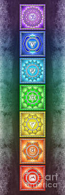 Tantra Digital Art - The Seven Chakras - Series 2 Artwork 2.3 by Dirk Czarnota