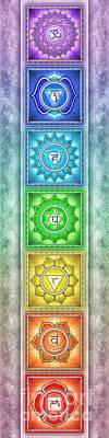 Mandal Digital Art - The Seven Chakras - Series 2 Artwork 4 by Dirk Czarnota