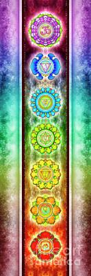 The Seven Chakras - Series 3 Artwork 1.1 Art Print