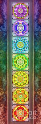 The Seven Chakras - Series 3 Artwork 2.1 Art Print