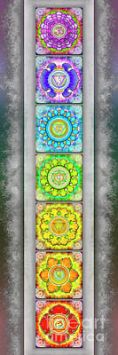 The Seven Chakras - Series 3 Artwork 2.2 Art Print