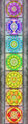 Mandal Digital Art - The Seven Chakras - Series 3 Artwork 2.2.2 by Dirk Czarnota