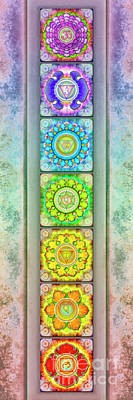 Tantra Digital Art - The Seven Chakras - Series 3 Artwork 2.3 by Dirk Czarnota