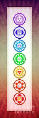 The Seven Chakras - Series 6 Artwork 1 Art Print
