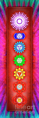 Tantra Digital Art - The Seven Chakras - Series 6 Artwork 2-1 by Dirk Czarnota
